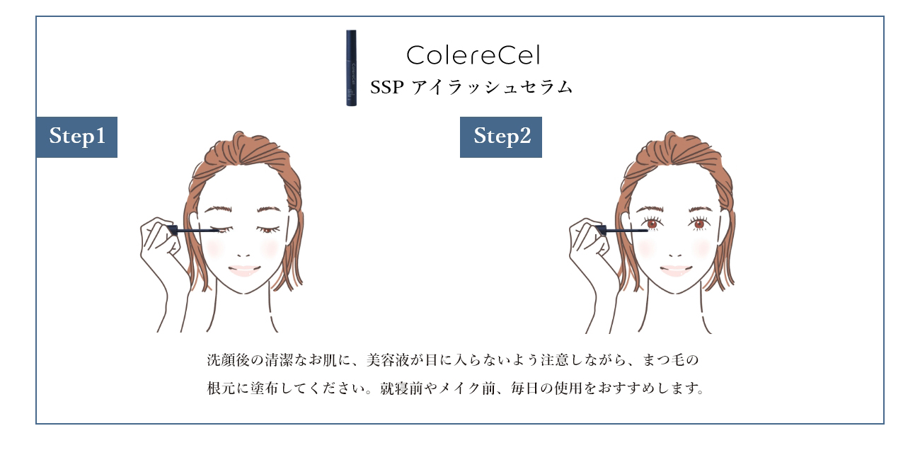 ColereCel(コレルセル)SSPスカルプエッセンス&SSPアイラッシュセラムの使用方法